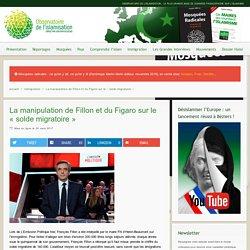 La manipulation de Fillon et du Figaro sur le «solde migratoire» – Observatoire de l'islamisation