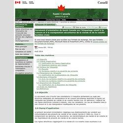SANTE CANADA - AOUT 2014 - Document d'orientation de Santé Canada sur l'étiquetage relatif à la cuisson et à la manipulation sécuritaires de la viande et de la volaille hachées crues
