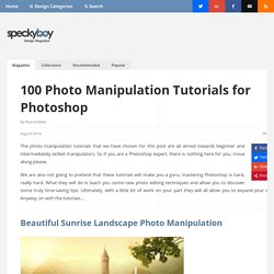 100 Photo Manipulation Tutorials for Photoshop