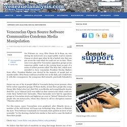 Venezuelan Open Source Software Communities Condemn Media Manipulation