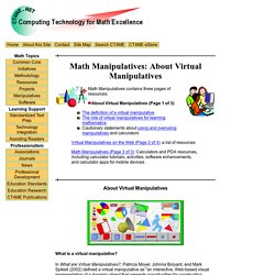 Math Manipulatives: About Virtual Manipulatives
