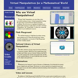 Virtual Manipulatives for Mathematical World