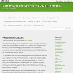 virtual manipulatives - Mathematics and Science in SD#38 (Richmond)