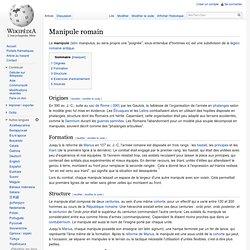 Manipule romain