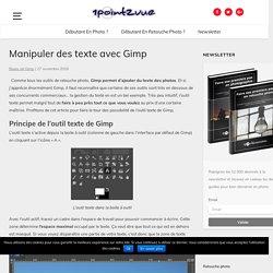 Manipuler des texte avec Gimp