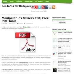 Manipuler les fichiers PDF, Free PDF Tools