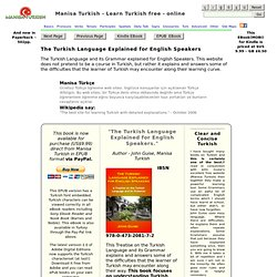 Manisa Turkish - Learn Turkish free - online