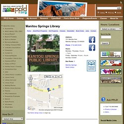 Manitou Springs Library: A Book Story