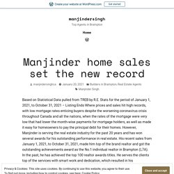 Manjinder home sales set the new record – manjindersingh