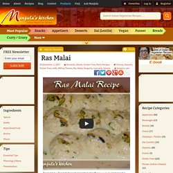 Ras Malai | Manjula's Kitchen | Indian Vegetarian Recipes