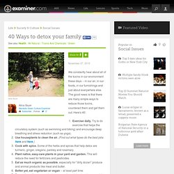 40 Ways to detox your family - Mankato Green Culture