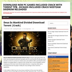 Deus Ex Mankind Divided Download Torent