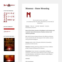 Mannaz – Rune Meaning – Rune Secrets