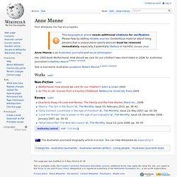 Anne Manne