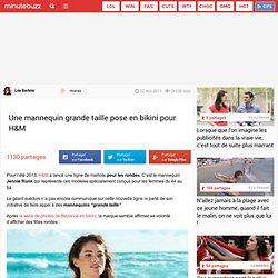 Une mannequin grande taille pose en bikini pour H&M