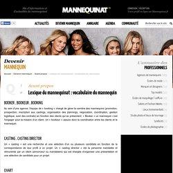 Lexique du mannequinat : vocabulaire du mannequin