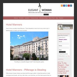 Hotel Manners For Elegant Traveling