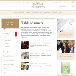 Table Manners, Food & Drink, Etiquette and Style