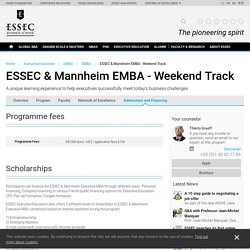 ESSEC & Mannheim EMBA - Weekend Track - EMBA - ESSEC Business School