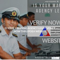 Is Your Manning Agency Legit? Verify Now Thru POEA Website