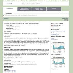 urn:nbn:se:bth-10527 : Människan och webben : Ett arbete om hur webben påverkar människan