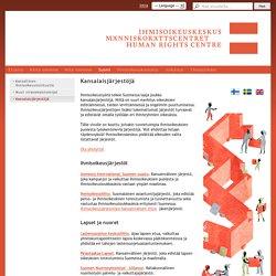 Kansalaisjärjestöjä - Ihmisoikeuskeskus / Människorättscentret / Human Rights Centre