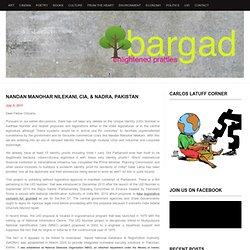 Nandan Manohar Nilekani, CIA, & NADRA, Pakistan « Bargad… बरगद…