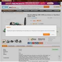 Manolins M-Мост GSM / GPRS модуль для Arduino ж / Quad-Band антенной - черный - Бесплатная доставка