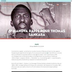 JP Manova rappe pour Thomas Sankara