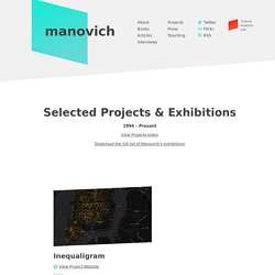 Lev Manovich - Selected Projects & Exhibitions