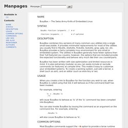 page for busybox - man.cx manual pages