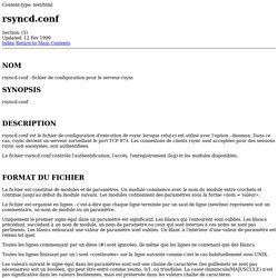 Manpage of rsyncd.conf