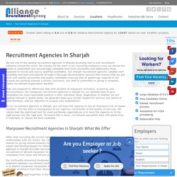 Manpower Recruitment Agencies in Sharjah - Alliance Recruitment Agency