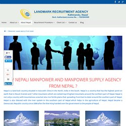 Manpower supply agency from nepal