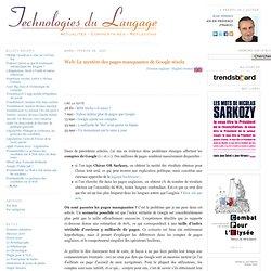 Technologies du Langage: Web: Le mystère des pages manquantes de