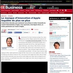 Le manque d'innovation d'Apple inquiète de plus en plus