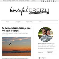 Ce qui me manque quand je suis loin de la Bretagne - Bebreizh-Blog