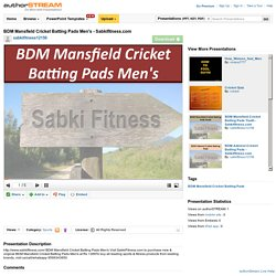 BDM Mansfield Cricket Batting Pads Men's - Sabkifitness.Com