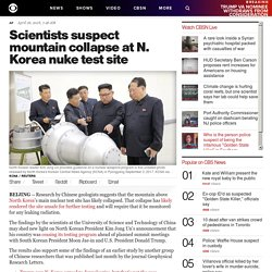 North Korea nuclear test site Mantapsan mountain collapse makes it unusable for Kim Jong Un, scientists say