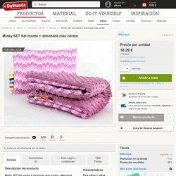 Mantas - Minky SET Set manta + almohada más barato - hecho a mano por basia_1718 en DaWanda
