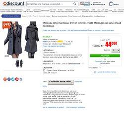 Manteau long manteaux d'hiver femmes veste Mélanges de laine chaud pardessus Girs - Achat / Vente manteau - caban