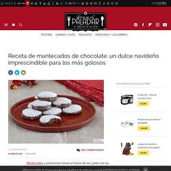 Mantecados de chocolate de Navidad. Receta de postre fácil y sencilla