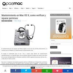 Mantenimiento en Mac OS X, como verificar y reparar permisos