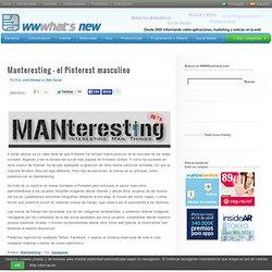 Manteresting – el Pinterest masculino