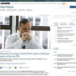 Mantido no cargo, Francischini volta a balançar após crítica da PM