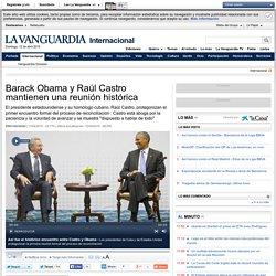 Barack Obama y Raúl Castro mantienen una reunión histórica