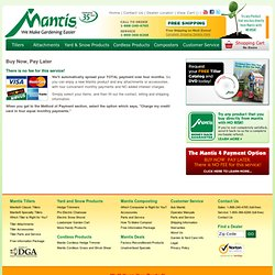 Garden Tools - Mantis 4 Pay - Offical Site