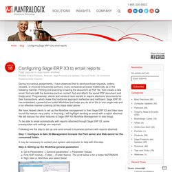 sage erp x3Configuring Sage ERP X3 to email reports - Mantralogix