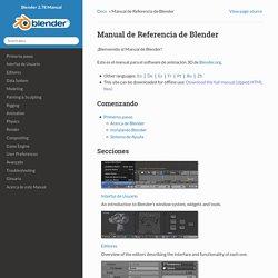 Manual de Referencia de Blender — Blender Manual