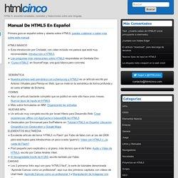 Manual de HTML5 en español « HTML 5, información útil en español